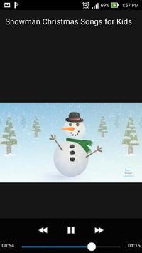 Snowman Christmas Songs for Kids /w Lyrics Offline screenshot 1