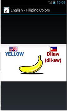 English to Filipino Colors screenshot 1