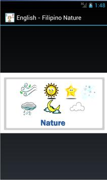 English to Filipino Nature poster