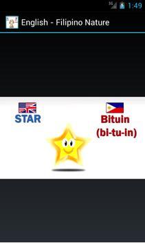 English to Filipino Nature screenshot 1