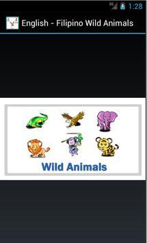 English Filipino Wild Animals poster