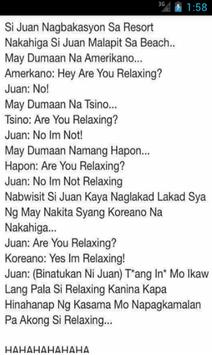 Pinoy Funny Jokes Collection screenshot 1