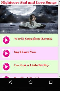 Nightcore Sad & Love Songs screenshot 6
