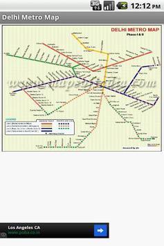 Delhi Metro Map poster