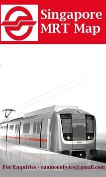 Singapore Offline MRT map poster