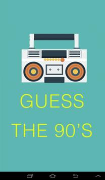 Guess The 90's Quiz Game poster