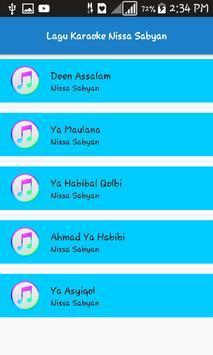 Lagu Karaoke Nissa Sabyan screenshot 2