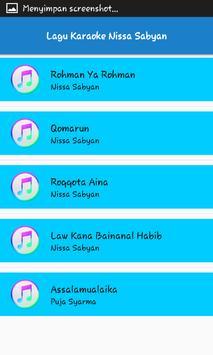 Lagu Karaoke Nissa Sabyan screenshot 3