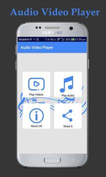 Audio Video Player apk screenshot