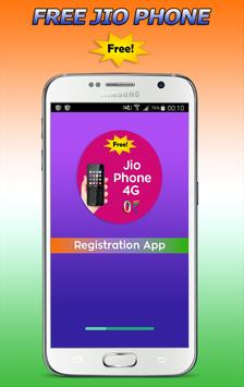 Free Jio Phone 4G Registration poster