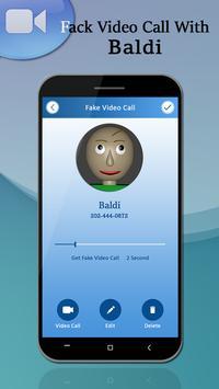 Video Call With Baldi Prank 2018 screenshot 3