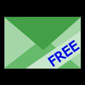 ツータッチメール・フリー【広告無し】簡単に定型メール icon