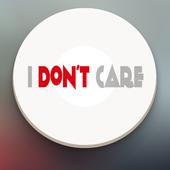 I Don't Care Button icon