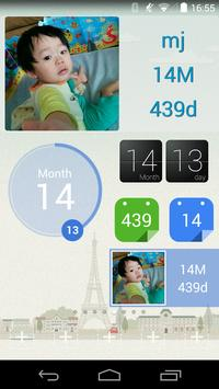 baby age widget : Second baby poster