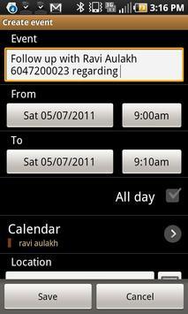 Call Follow Up Manager screenshot 2