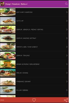 Resep Masakan Betawi poster