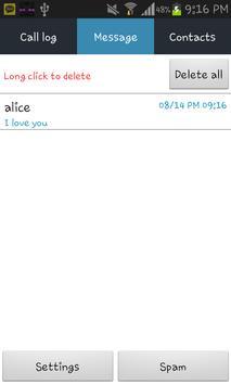 Secret SMS (No icon) apk screenshot