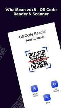 WhatScan 2018 - QR Code Reader & Scanner poster