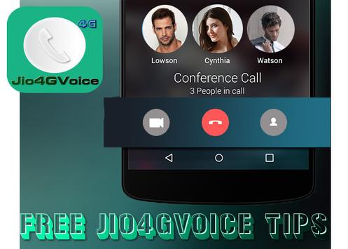 Instruction To Call Jio4GVoice poster