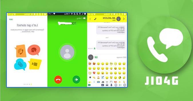 Jio4GVoice app screenshot 1