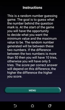 Guess The Number apk screenshot