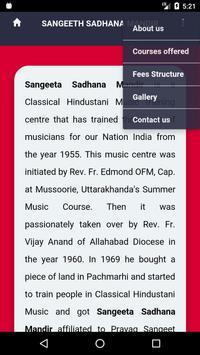 Sangeet Sadhana Mandir apk screenshot