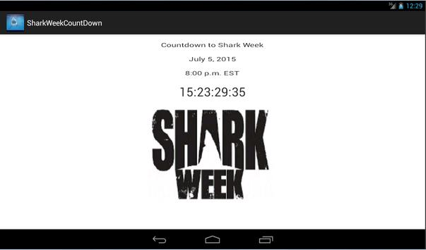 Shark Week Countdown apk screenshot