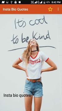 Insta Bio Quotes poster