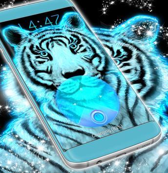 Neon Tiger Locker Theme apk screenshot
