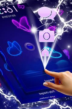 Neon Butterfly Locker screenshot 4