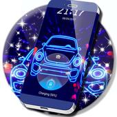 Neon Car Lock Screen icon