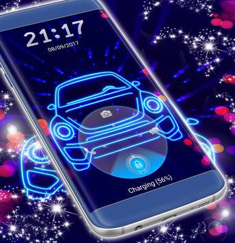 Neon Car Lock Screen poster