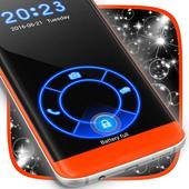 Neon Blue Lock Screen icon