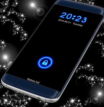 Neon Blue Lock Screen apk screenshot