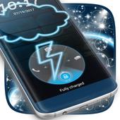 Neon Cloudy Locker Theme icon