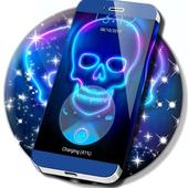Neon Skull Locker Theme icon