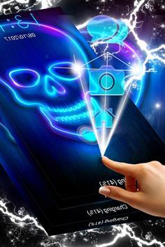 Neon Skull Locker Theme poster