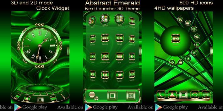 Free Abstract Emerald  Go locker theme screenshot 5