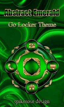Free Abstract Emerald  Go locker poster