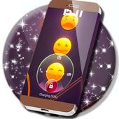 Emoji 2017 Gold Lock Screen icon