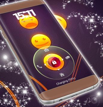Emoji 2017 Gold Lock Screen apk screenshot