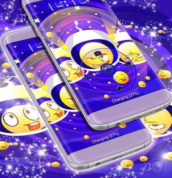 Emoji Galaxy Locker Theme apk screenshot