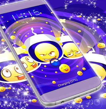 Emoji Galaxy Locker Theme screenshot 2