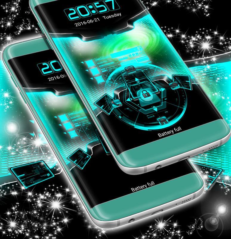 3D Locker Technology Theme APK Download