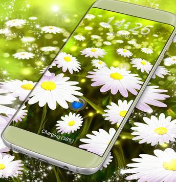 Lock Screen Flowers Wallpaper poster