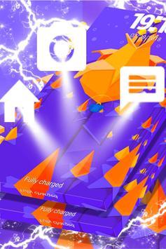 Pixel Flower Locker Theme screenshot 2