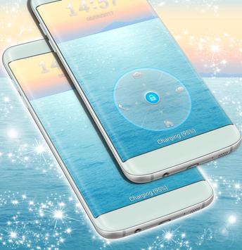 Water Lock Screen Theme For Samsung screenshot 1
