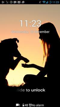 Dog on a walk GO Locker Theme apk screenshot