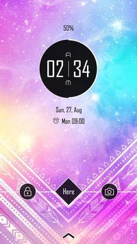 (FREE) Galaxy Theme GO Locker screenshot 1