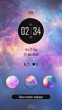 (FREE) Galaxy Theme GO Locker screenshot 3